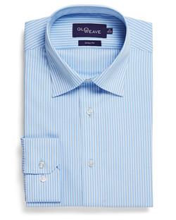 Mens 1376L LS Bold Stripe Shirt Blue