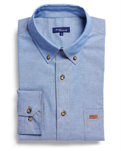 Mens 5045LN Iconic Chambray Industrial Shirt Blue