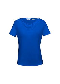 K625LS Ava Drape Knit Top Electric Blue
