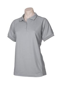 p9925 Ladies Resort Polo Grey-Charcoal