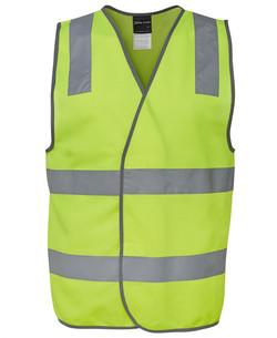 6DNSV Hi Vis (D+N) Safety Vest Lime
