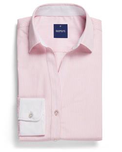Ladies 1376WYL LS Bold Stripe Y Shirt Pink