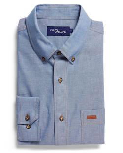 Mens 5095L LS Iconic Chambray Industrial Shirt Blue