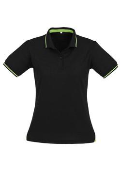 p226ls Ladies Jet Polo Black-Bright Green