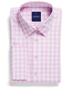 Ladies 1710WL Royal Oxford Gingham Shirt Pink