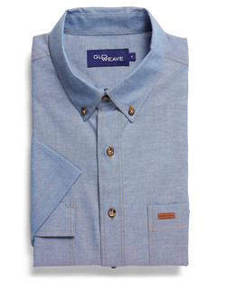 Mens 5095S SS Iconic Chambray Industrial Shirt Blue