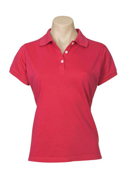 p2125 Ladies Neon Polo Red