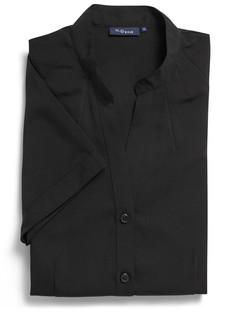 Ladies 1583WS 100% Plain Polyester Shirt Black