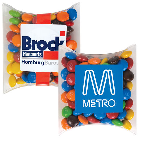 95 grams of assorted colour milk chocolate M&M's (Green, Red, Orange, Yellow, Brown and Blue) packed in Pillow Pack.