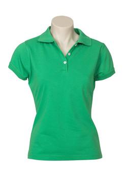 p2125 Ladies Neon Polo Green