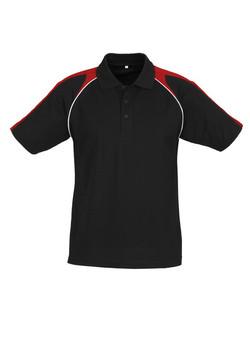 p225ms Mens Triton Polo Black-Red-White