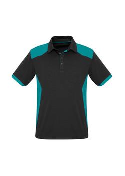 Biz P705MS Mens Rival Polo Shirt Black_Teal