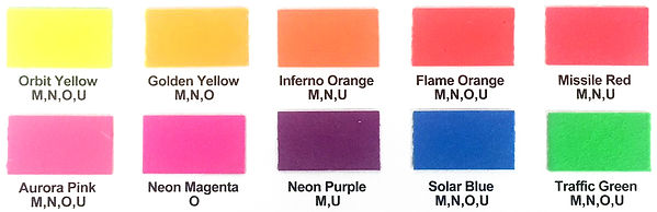 SunPrints Range of Fluoro Screen Printing Inks