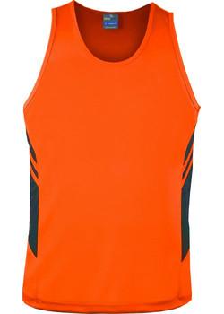 AP 1111 Mens Tasman Singlet Orange-Slate.jpg
