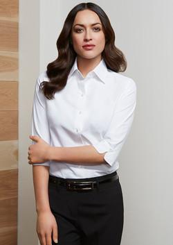 S29521 Ladies Ambassador 3-4 Sleeve Shirt