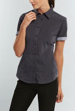 Ladies 1253WHS End on End Hospitality Shirt Slate A