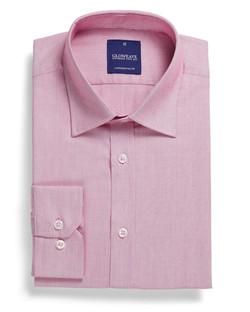Mens 1708L LS Micro Brick Textured Plain Shirt Pink