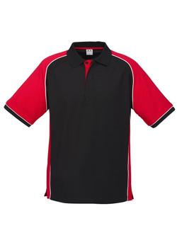 p10112 Mens Nitro Polo Black-Red-White