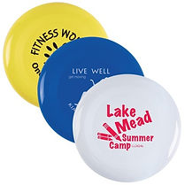Check out our selection of promotional Frisbees. Decorate with Logo, Brand or point of contact.