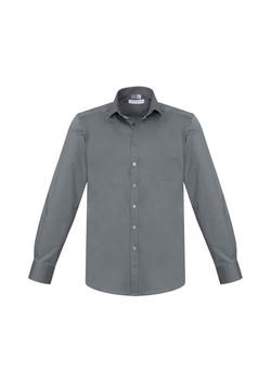 Biz S770ML Mens Monaco LS Shirts Platinum