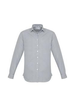Biz S716ML Mens Ellison Shirts Silver