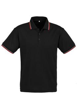 p227ms Mens Cambridge Polo Black-Red-White