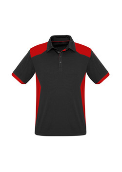 Biz P705MS Mens Rival Polo Shirt Black_Red