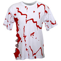 ABT08 Adults Blood Tee - Bloody Effect Decorated T-Shirt