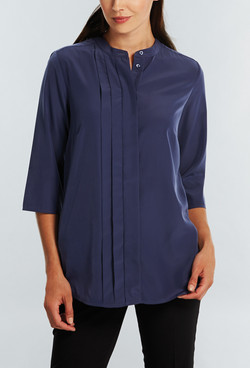 Ladies 1719WL Polyester Georgette Shirt Navy A