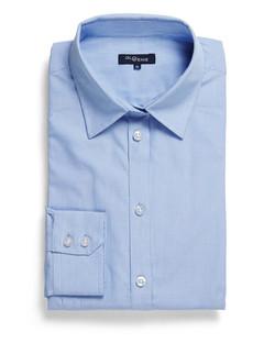Ladies 5656WL UV Cotton Shirt Blue