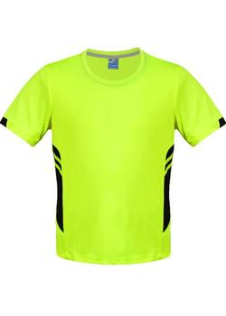 AP 1211 Mens Tasman Tshirt Fluro Yellow-Black