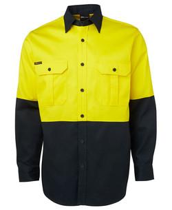6HWL Hi Vis LS 190G Shirt Yellow-Green