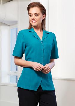 S265LS Ladies Oasis Plain Overblouse Shirt