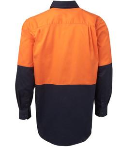 6HWL Hi Vis LS 190G Shirt Back