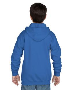 18600B Youth Full Zip Hooded Sweatshirt Back