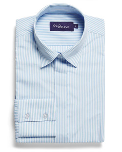 Ladies 1376WL Bold Stripe Shirt Blue