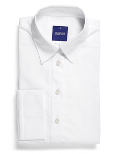 Ladies 1069WL LS Yarn Dyed Herringbone Shirt White