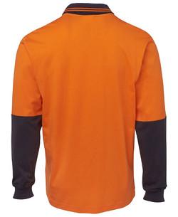 6CPHL Hi Vis LS Cotton Polo Back