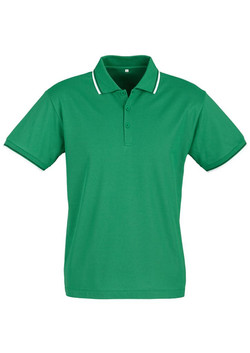 p227ms Mens Cambridge Polo Emerald-Black-White