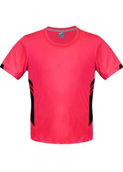 AP 1211 Mens Tasman Tshirt Fluro Pink-Black
