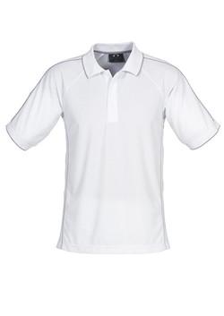 p9900 Mens Resort Polo White-Charcoal