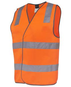 6DNSV Hi Vis (D+N) Safety Vest Orange
