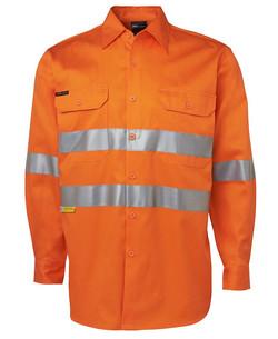 6HDNL LS 190G Shirt With 3M Tape Orange