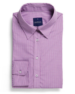 Ladies 1637WL LS Gingham Check Shirt Lilac