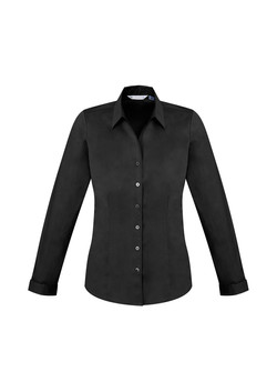 Biz S770LL Ladies LS Monaco Shirt Black