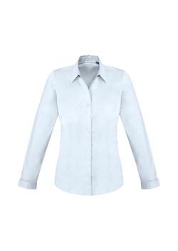 Biz S770LL Ladies LS Monaco Shirt White