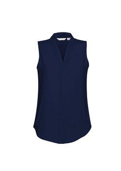 S627LN Madison Sleeveless Blouse Midnight Blue