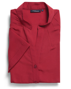 Ladies 1583WS 100% Plain Polyester Shirt Red