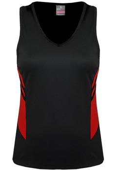 AP 2111 Ladies Tasman Singlet Black-Red.jpg
