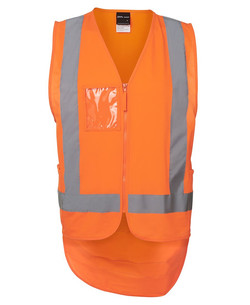 6DNDV Hi Vis Zip Drop Tail (D+N) Vest Orange